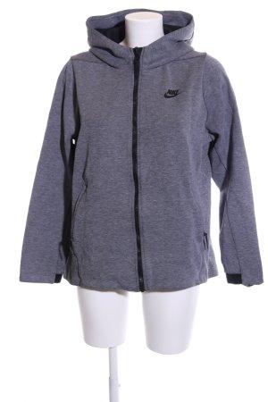 Nike Giacca sport blu-nero puntinato stile atletico