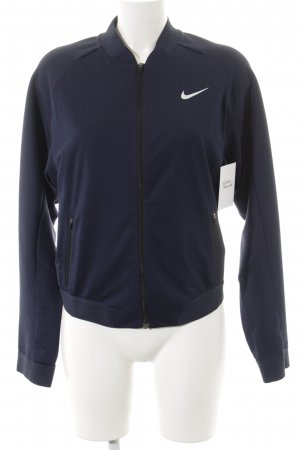 Nike Veste de sport bleu foncé style athlétique