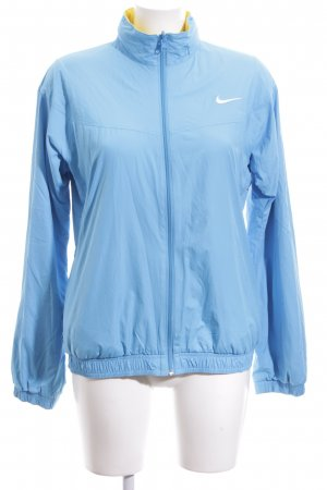 Nike Giacca sport blu-giallo pallido caratteri ricamati stile atletico