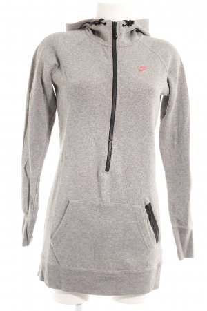 Nike Chaqueta deportiva gris-rosa neón look casual