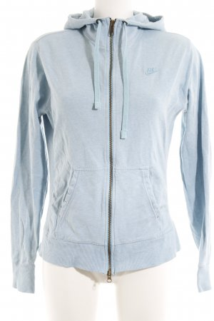 Nike Sportjacke hellblau-weiß Farbverlauf Casual-Look