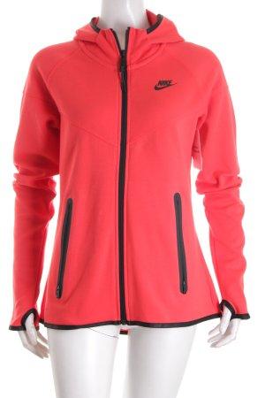 Nike Sportjacke rot-schwarz minimalistischer Stil