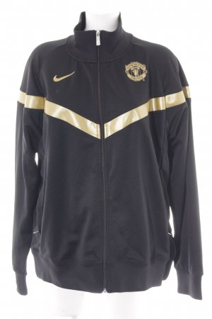 Nike Sports Jacket black-gold-colored embroidered lettering athletic style