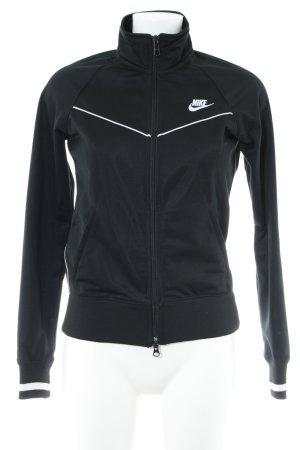 Nike Sportjack zwart-wit casual uitstraling
