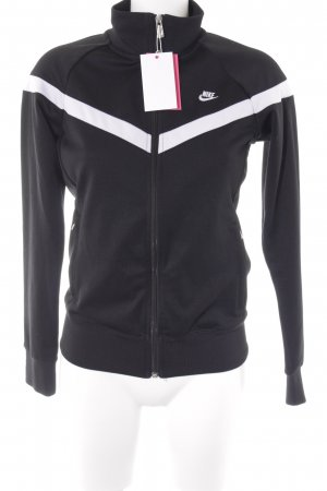 Nike Sportjacke schwarz-weiß Colourblocking Casual-Look