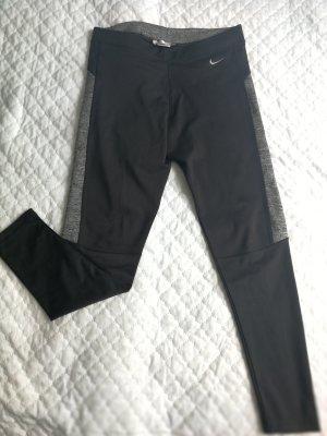 Nike Leggings black-silver-colored