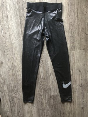 Nike Leggings negro-color plata