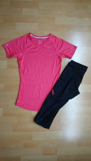 Nike Sportbroek zwart-framboosrood