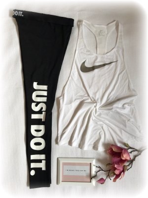 Nike Sportoutfit, Nike leggins Just do it tight und Nike Top, Dri Fit, S,   N E U