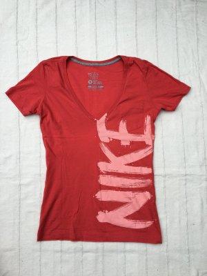 NIKE Sportset: Nike Laufshort Dri-Fit  + Nike T-Shirt Slim Fit, neonapricot, 36/38