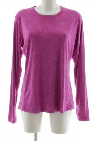 Nike Sports Shirt pink allover print athletic style