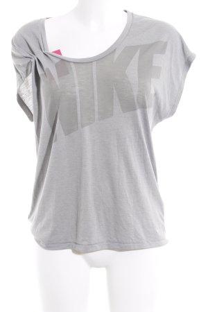 Nike Sportshirt blassblau Motivdruck sportlicher Stil