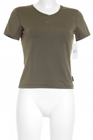 Nike Sportshirt blassgrün-olivgrün Streifenmuster sportlicher Stil