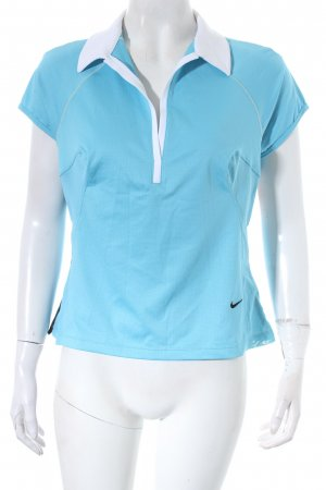 Nike Sportshirt hellblau Transparenz-Optik