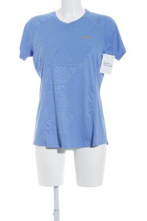 Nike Sportshirt kornblumenblau-silberfarben schlichter Stil
