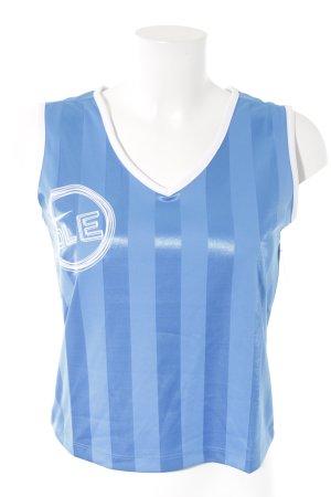 Nike T-shirt de sport bleu fluo-blanc lettrage imprimé style athlétique