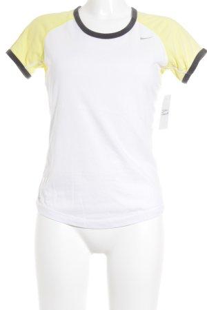 Nike Sportshirt weiß-gelb sportlicher Stil