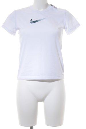 Nike Maglietta sport bianco-grigio ardesia stile atletico