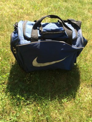 Nike Sports Bag dark blue-white