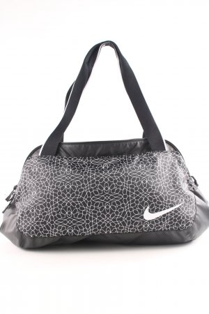 Nike Sporttasche schwarz-weiß Allover-Druck Casual-Look
