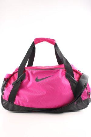 Nike Sporttas zwart-roze prints met een thema atletische stijl