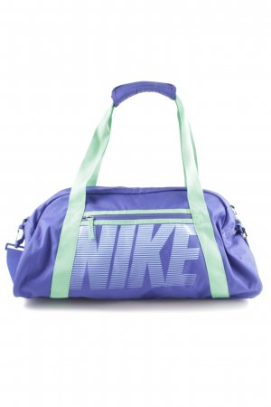 Nike Sports Bag blue-turquoise printed lettering casual look