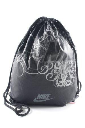 Nike Bolsa de gimnasio negro-gris estilo deportivo