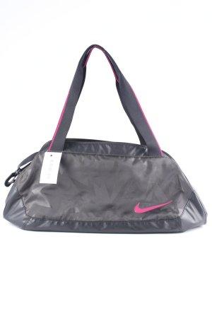Nike Sporttasche schwarz-magenta abstrakter Druck Skater-Look
