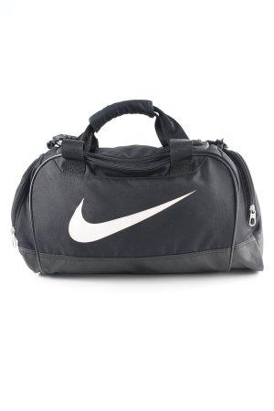 Nike Sporttasche schwarz-weiß Motivdruck sportlicher Stil