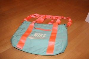 Nike Bolsa de gimnasio naranja neón-turquesa