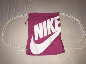 Nike Sporttasche Turnbeutel Pink Weiß Rosa Reißverschluss