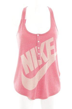 Nike Sporttop roze gedrukte letters atletische stijl
