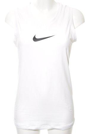 Nike Sporttop wit gedrukte letters atletische stijl
