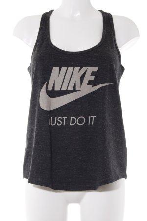 Nike Sporttop dunkelgrau-creme meliert Logoprint