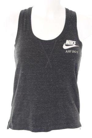Nike Sporttop dunkelgrau Schriftzug gedruckt sportlicher Stil
