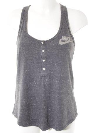 Nike Sporttop grau-hellgrau meliert Casual-Look
