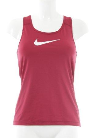Nike Sporttop karminrot sportlicher Stil