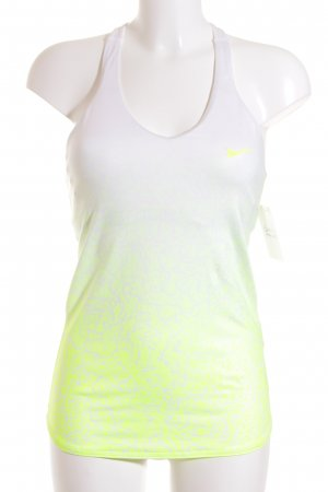 Nike Sports Tank white-neon green color gradient athletic style