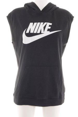 Nike Kapuzensweatshirt schwarz Schriftzug gedruckt sportlicher Stil