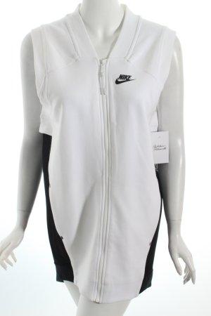 Nike Gilet de sport noir-blanc style athlétique