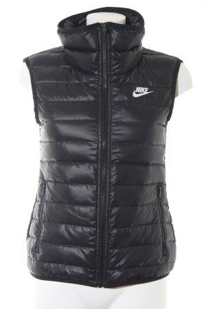 Nike Steppweste schwarz schlichter Stil