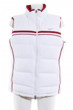 Nike Quilted Gilet white-dark red striped pattern casual look