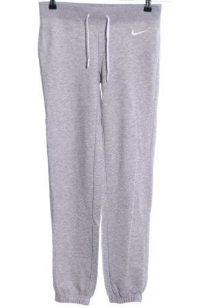 Nike Pantalone fitness grigio chiaro puntinato stile casual