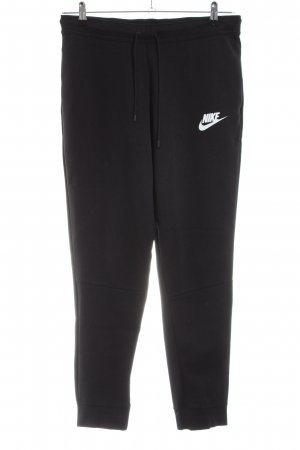 Nike Pantalone fitness nero caratteri stampati stile casual
