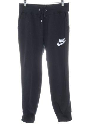 Nike Sweathose schwarz-weiß Casual-Look