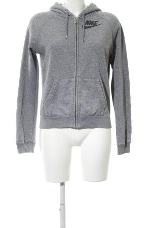 Nike Chaqueta de tela de sudadera gris claro look casual