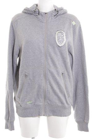 Nike Sweatjacke hellgrau-weiß Casual-Look