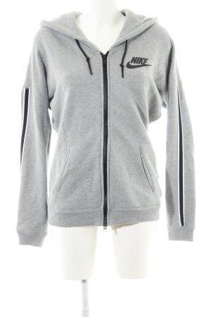 Nike Veste sweat gris clair moucheté style décontracté