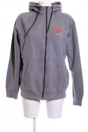 Nike Sweat Jacket light grey flecked casual look