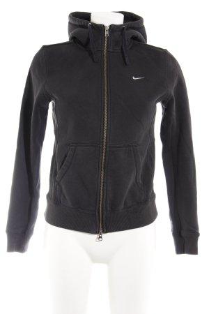 Nike Sweatjacke anthrazit-weiß Casual-Look